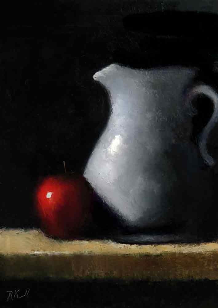 """Apple and Pitcher"" original fine art by Bob Kimball"