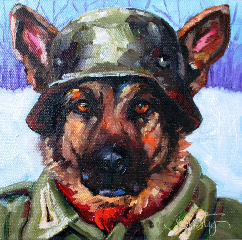 """ACH DER LIEBER HUND"" original fine art by Kristy Tracy"