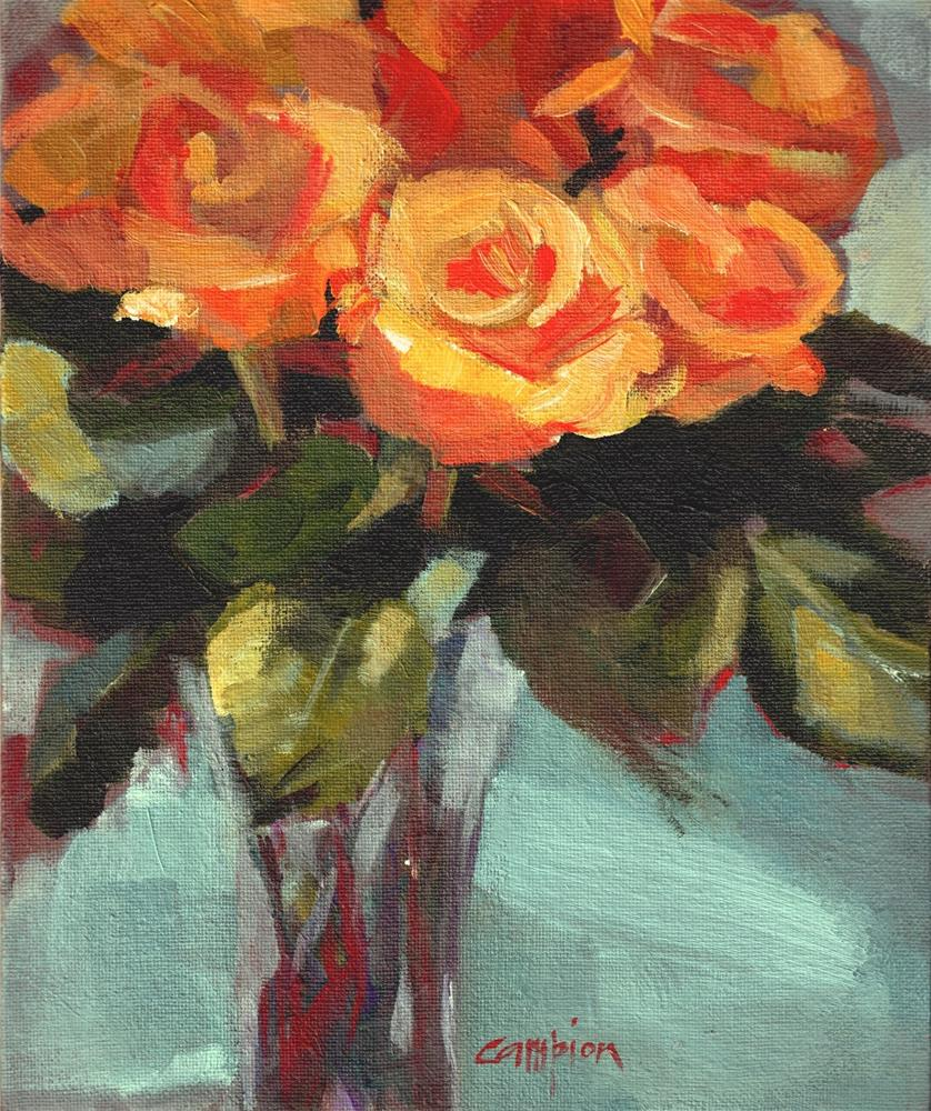 """""""382 Smile For Me and Brighten My Day"""" original fine art by Diane Campion"""