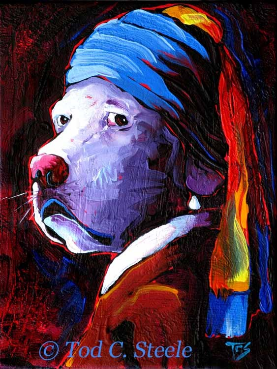 """Lab With a Pearl Earring by Tod C. Steele"" original fine art by Tod Steele"
