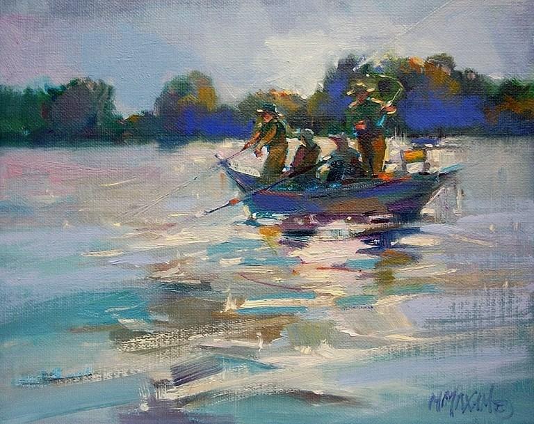 """Backlight"" original fine art by Mary Maxam"