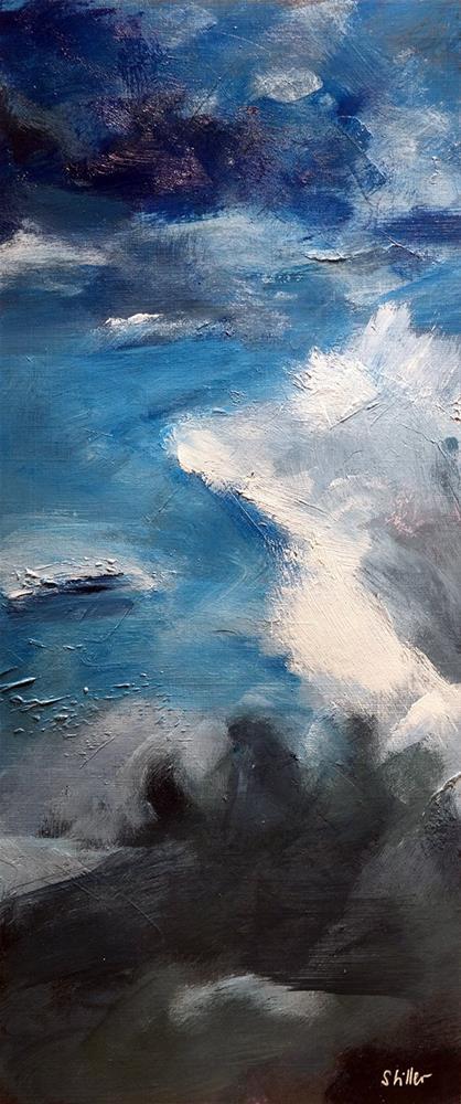 """""""2991 Abstract Sky II"""" original fine art by Dietmar Stiller"""