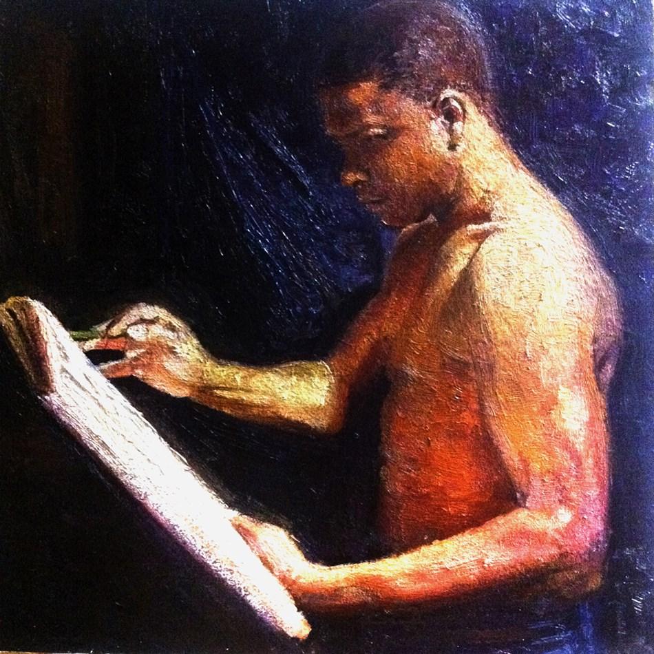 """The ADDICTIVE SKETCHER"" original fine art by Adebanji Alade"