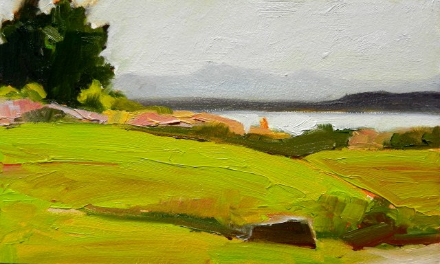 """The Brothers from Bracketts Landing Park Edmonds, plein air oil painting by Robin Weiss"" original fine art by Robin Weiss"