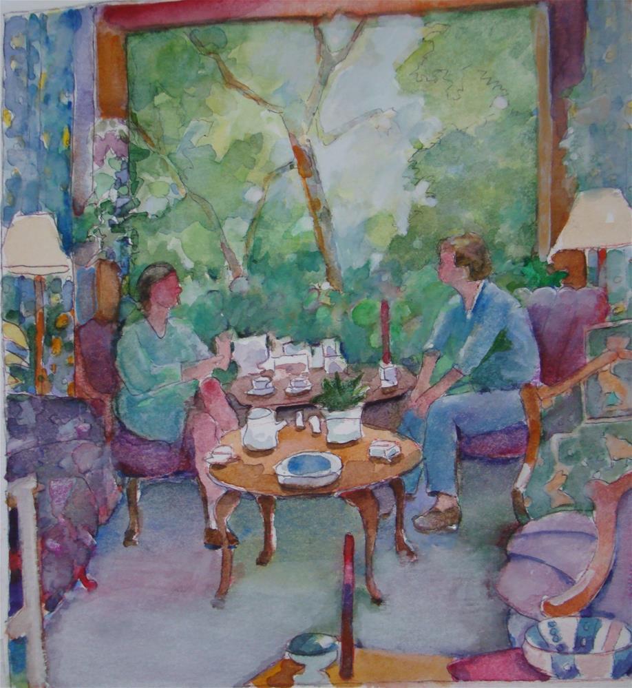 """Maureens house"" original fine art by meribeth coyne"