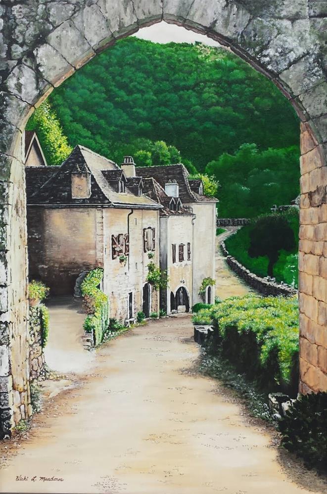 """The Arch"" original fine art by Vicki Meadows"
