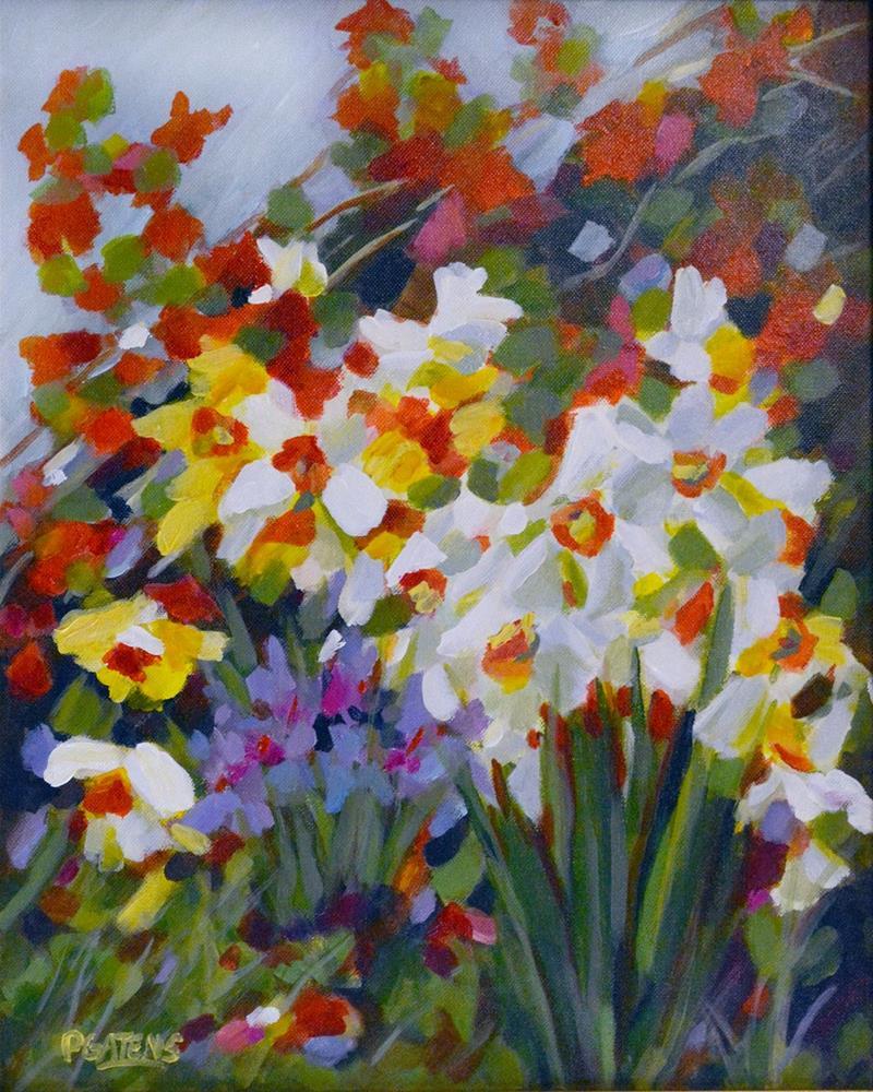 """Woodland Daffodils"" original fine art by Pamela Gatens"