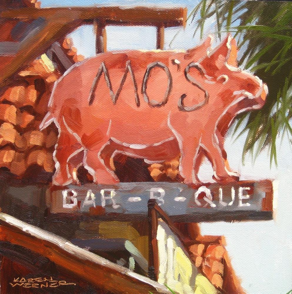 """""""Mo's, Pismo Beach"""" original fine art by Karen Werner"""