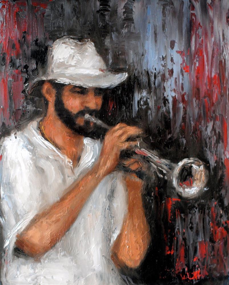 """T. Quinlan"" original fine art by Kelly Berkey"