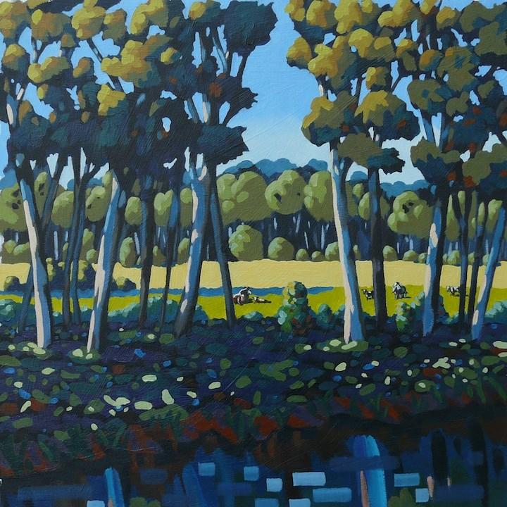 """Across the river"" original fine art by Alix Baker PCAFAS AUA"