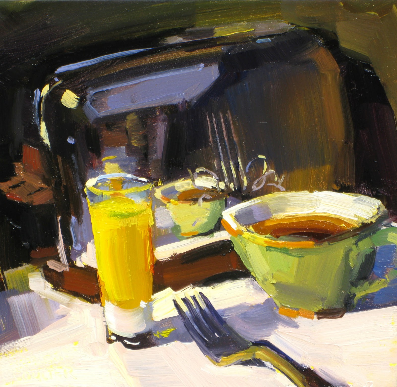 """THANKSGIVING BREAKFAST"" original fine art by James Coulter"