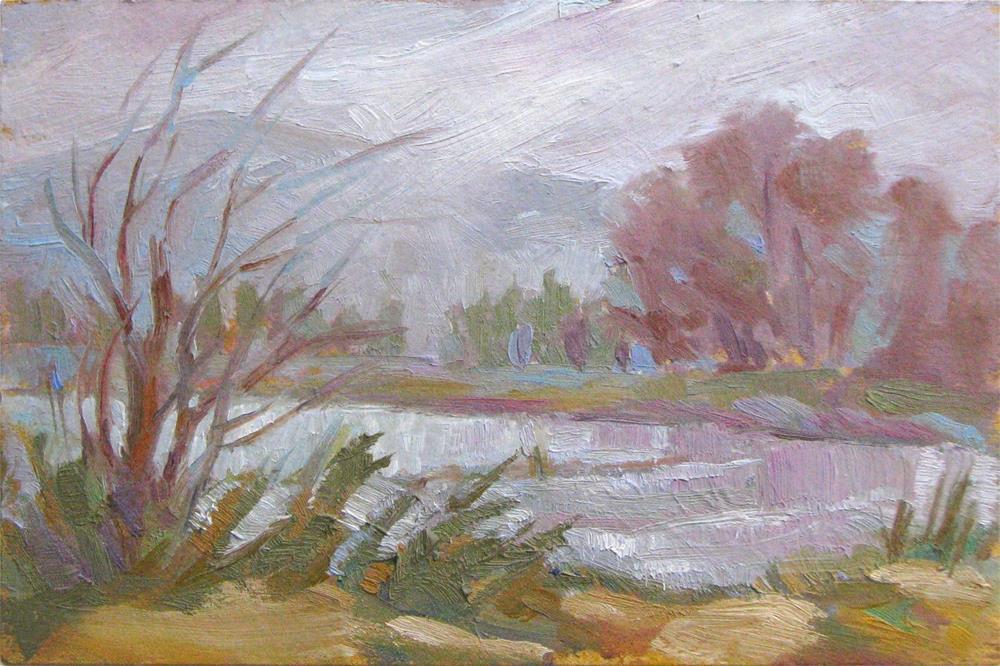 """Grey-scape"" original fine art by Laura Gable"