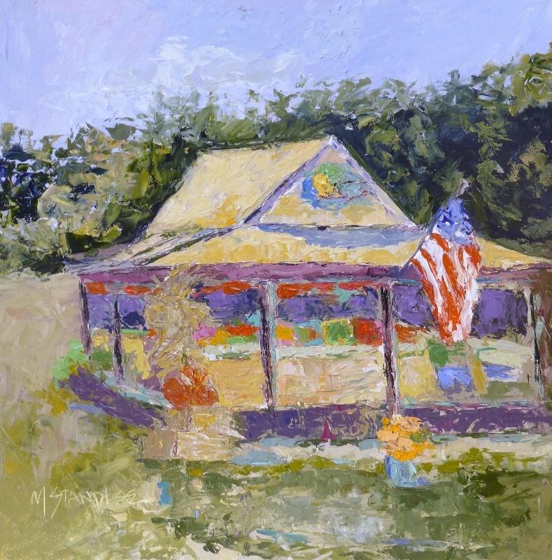 """Flip Flop Farmer 13090"" original fine art by Nancy Standlee"