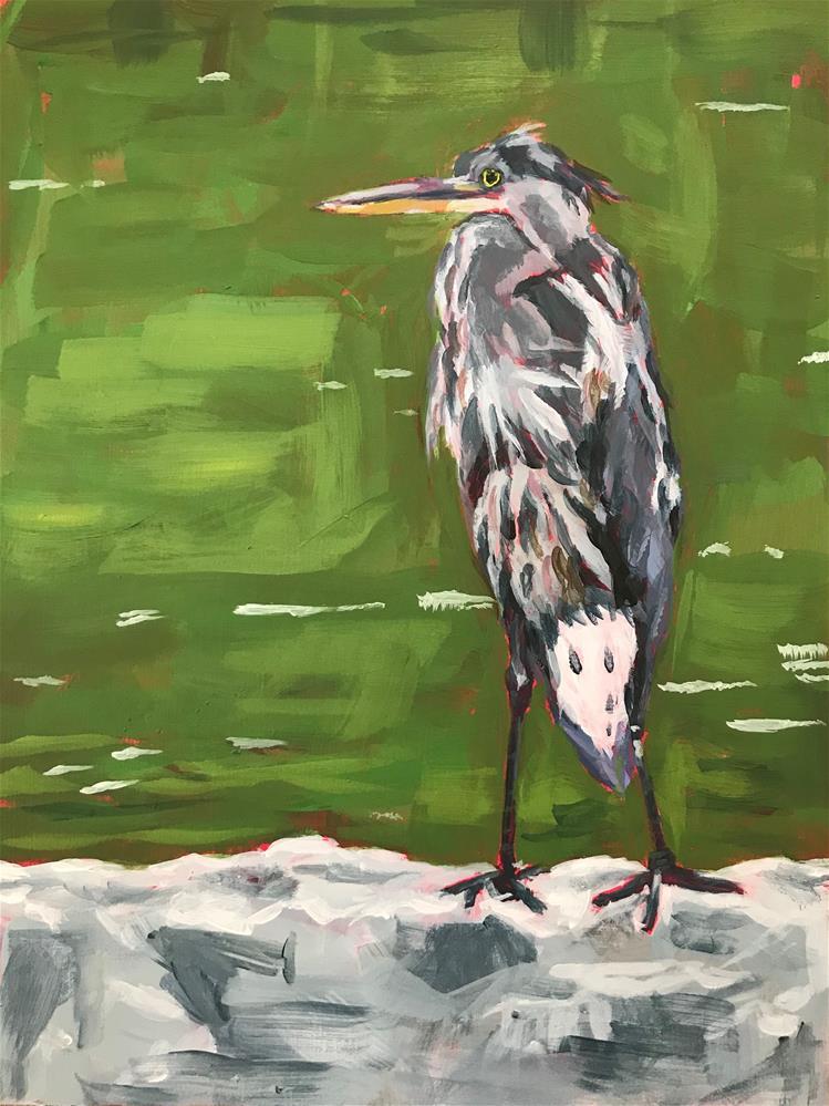 """""""Bird on a Wall"""" original fine art by Gina Garding"""