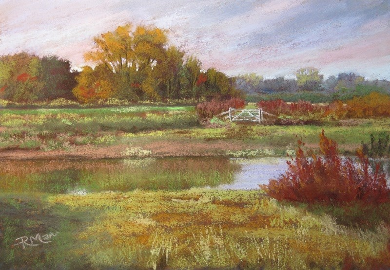 """""""Summer Marsh"""" original fine art by Ruth Mann"""