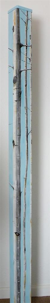 """NEW ITEM! ASPEN - ART POLE © SAUNDRA LANE GALLOWAY"" original fine art by Saundra Lane Galloway"