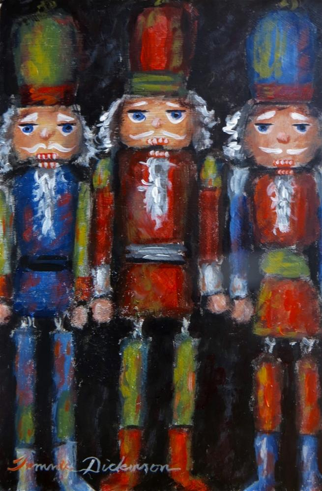 """Nutcracker Ornaments"" original fine art by Tammie Dickerson"