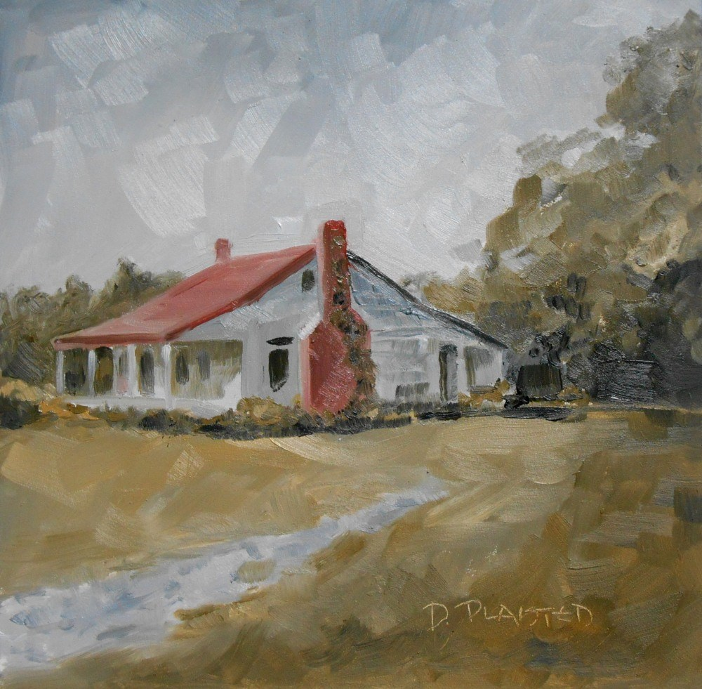 """""""Old House"""" original fine art by Diane Plaisted"""