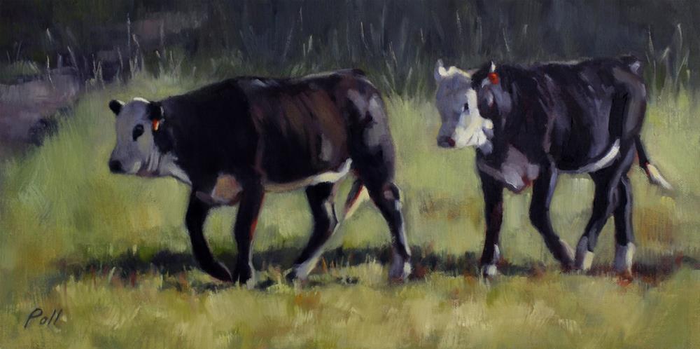 """Bovine Buddies"" original fine art by Pamela Poll"