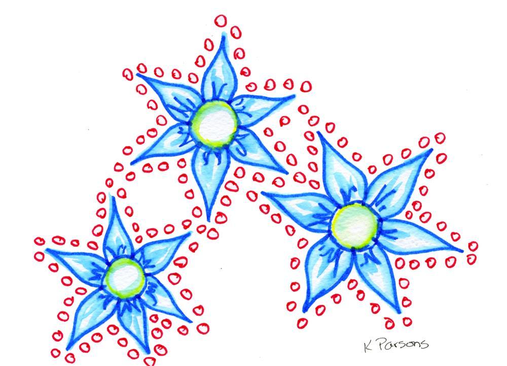 """""""Doodle Flowers"""" original fine art by Kali Parsons"""