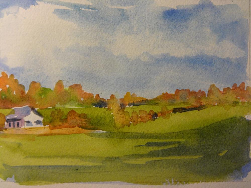 """""""Telberger Farm"""" original fine art by angela scully"""