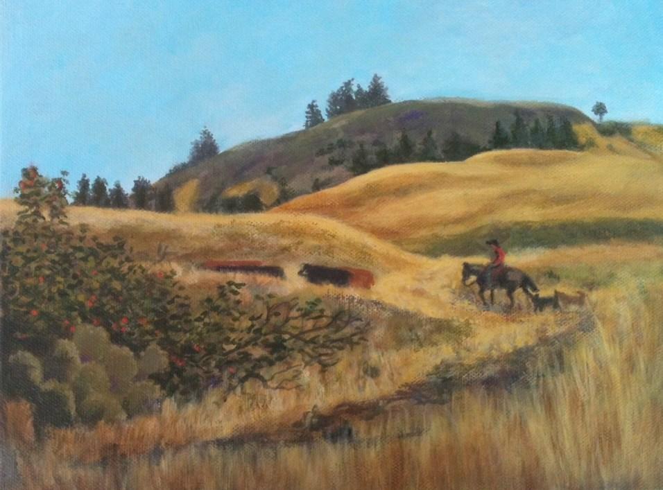 """Cowpoke"" original fine art by Elizabeth Elgin"