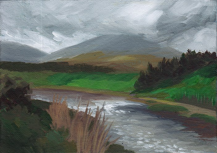 """Overcast Day, Ireland"" original fine art by J M Needham"