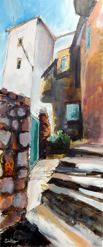 """2947 Stairpainting"" original fine art by Dietmar Stiller"