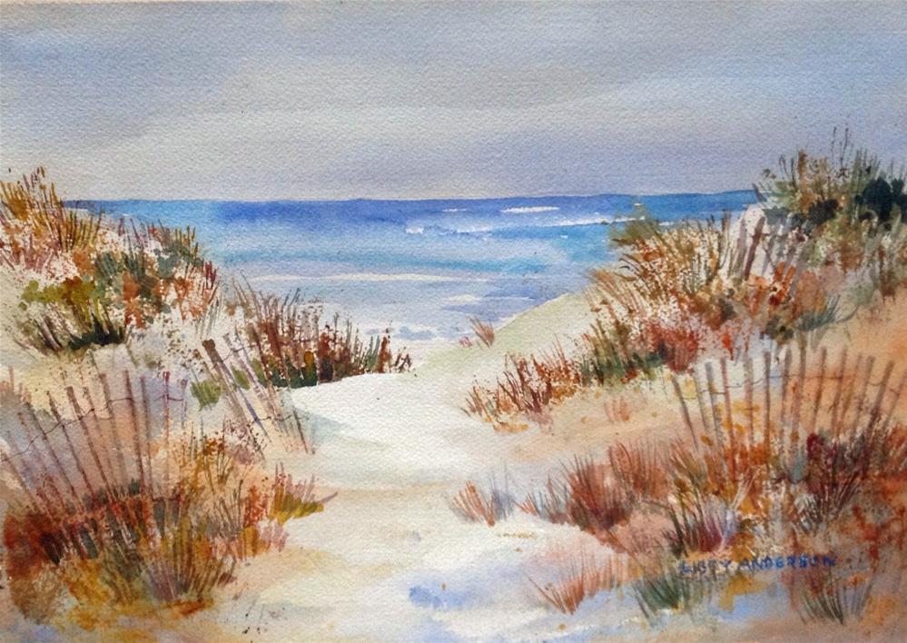 """""""Gulf Beach"""" original fine art by Libby Anderson"""