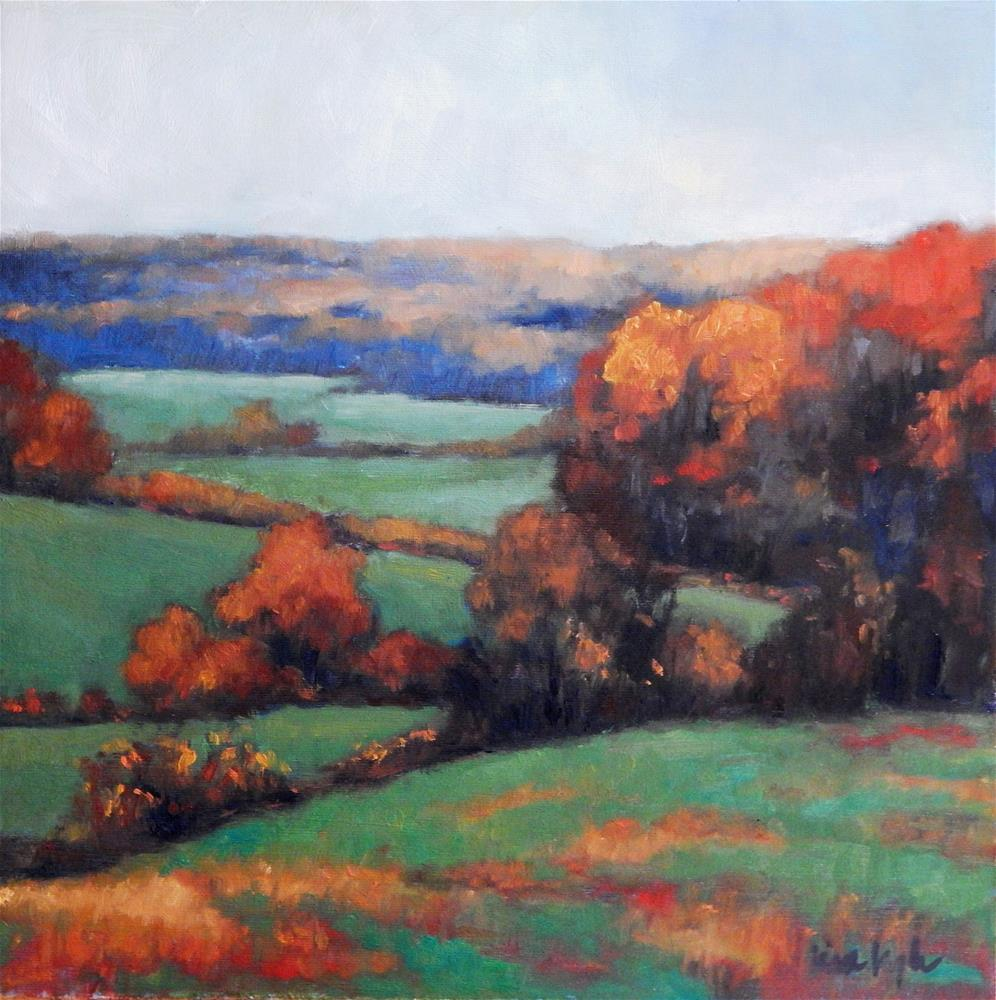 """""""Autumn in the County"""" original fine art by Lisa Kyle"""