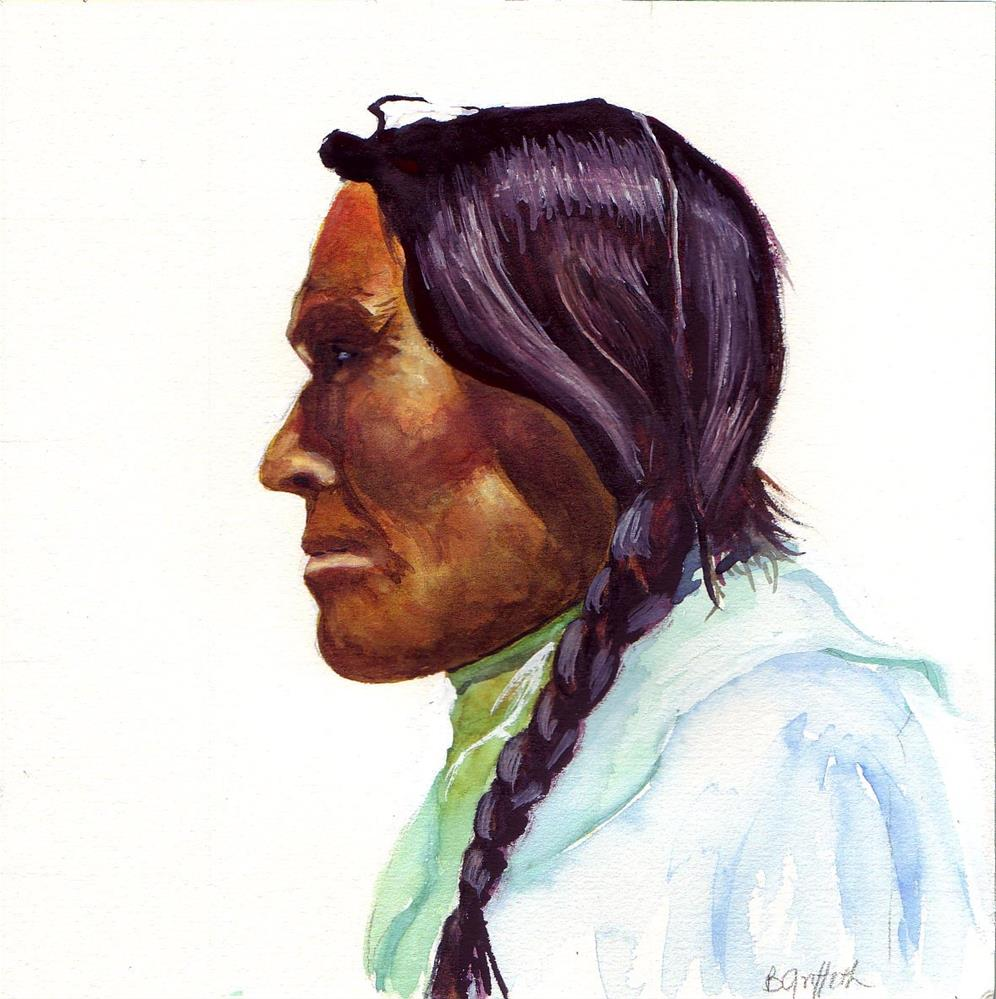 """""""Indian, Sarcee Tribe"""" original fine art by Bunny Griffeth"""