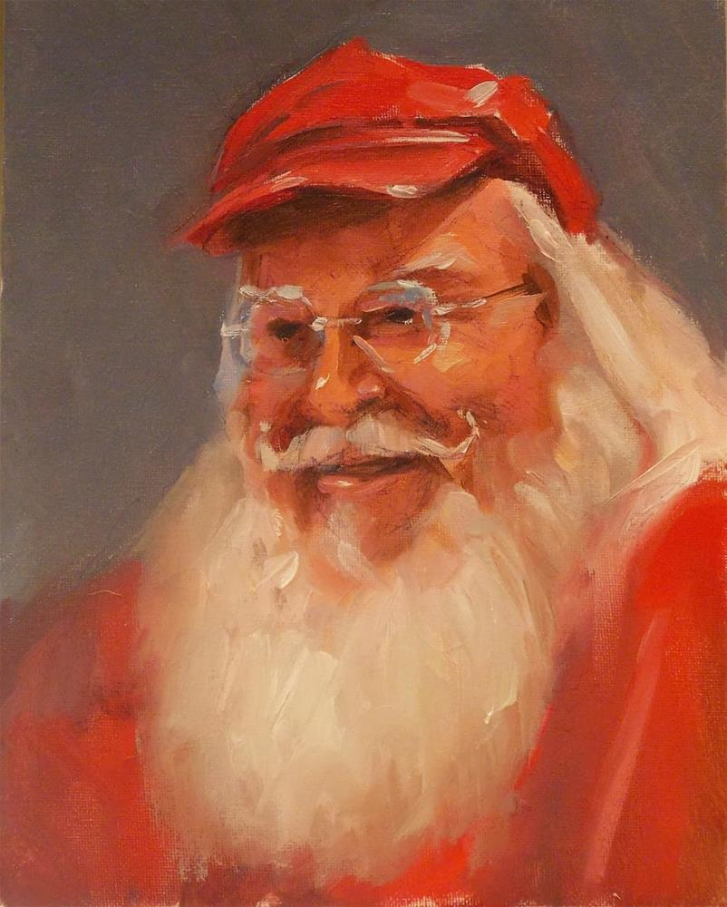 """MAN IN RED"" original fine art by Doug Carter"
