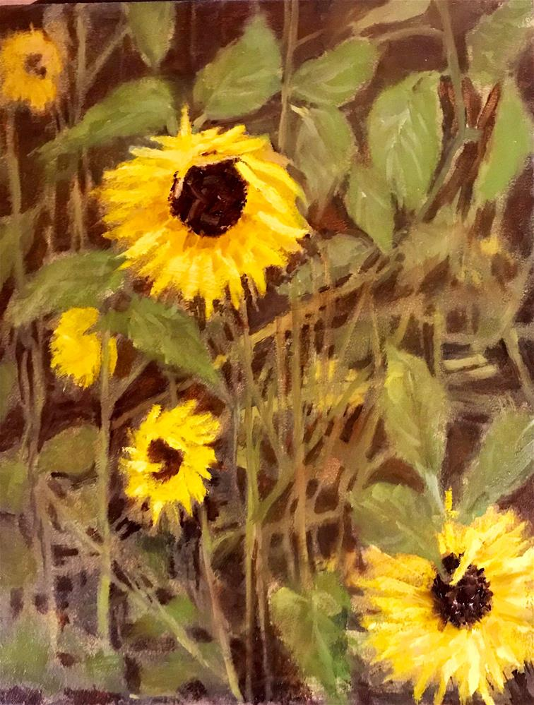 """Sun flowers in the field"" original fine art by Betty Argiros"