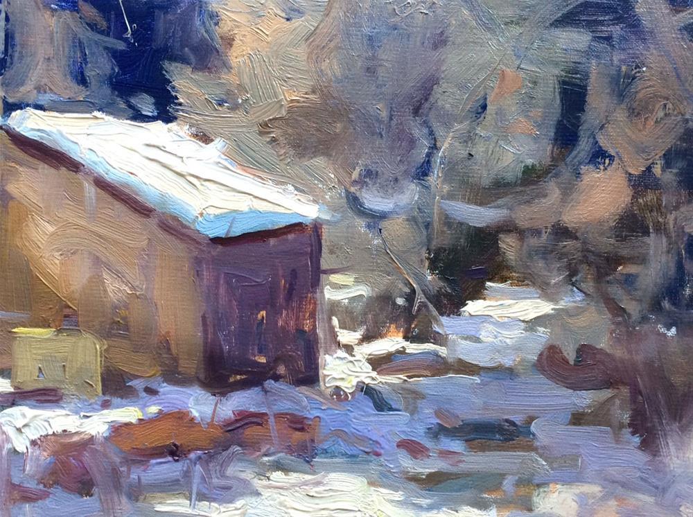 """Along The Creek "" original fine art by Michael Clark"