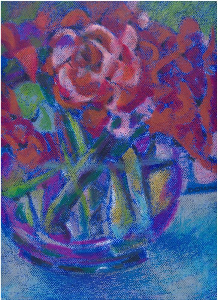 """134 FLOWERS STYLISED 8"" original fine art by Trevor Downes"