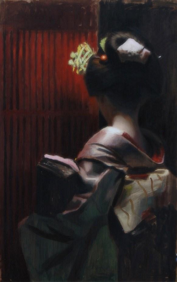 """Gion Kobu"" original fine art by Phil Couture"