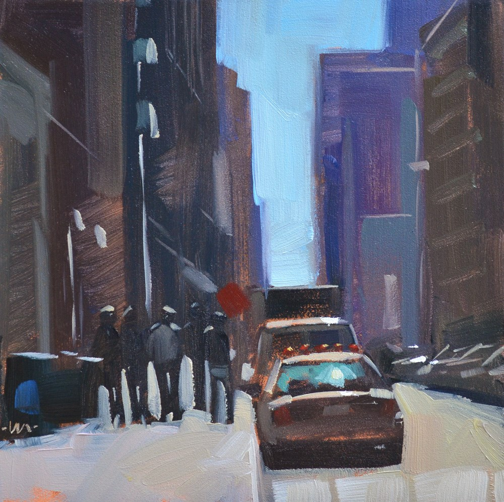 """Backlit City"" original fine art by Carol Marine"