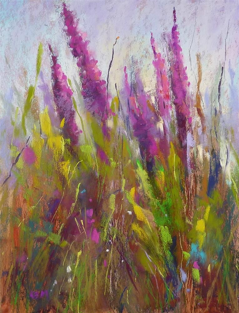"""One of my Favorite Wildflower Painting Techniques"" original fine art by Karen Margulis"