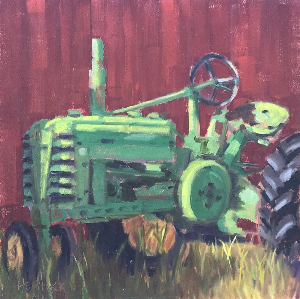 """""""Green With Envy"""" original fine art by Pam Holnback"""