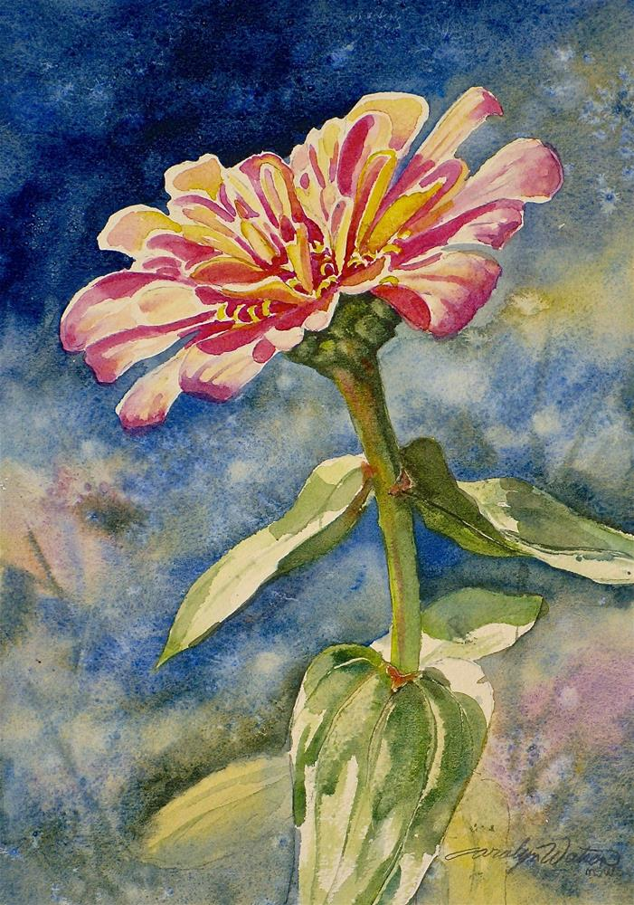 """Zinnia"" original fine art by carolyn watson"