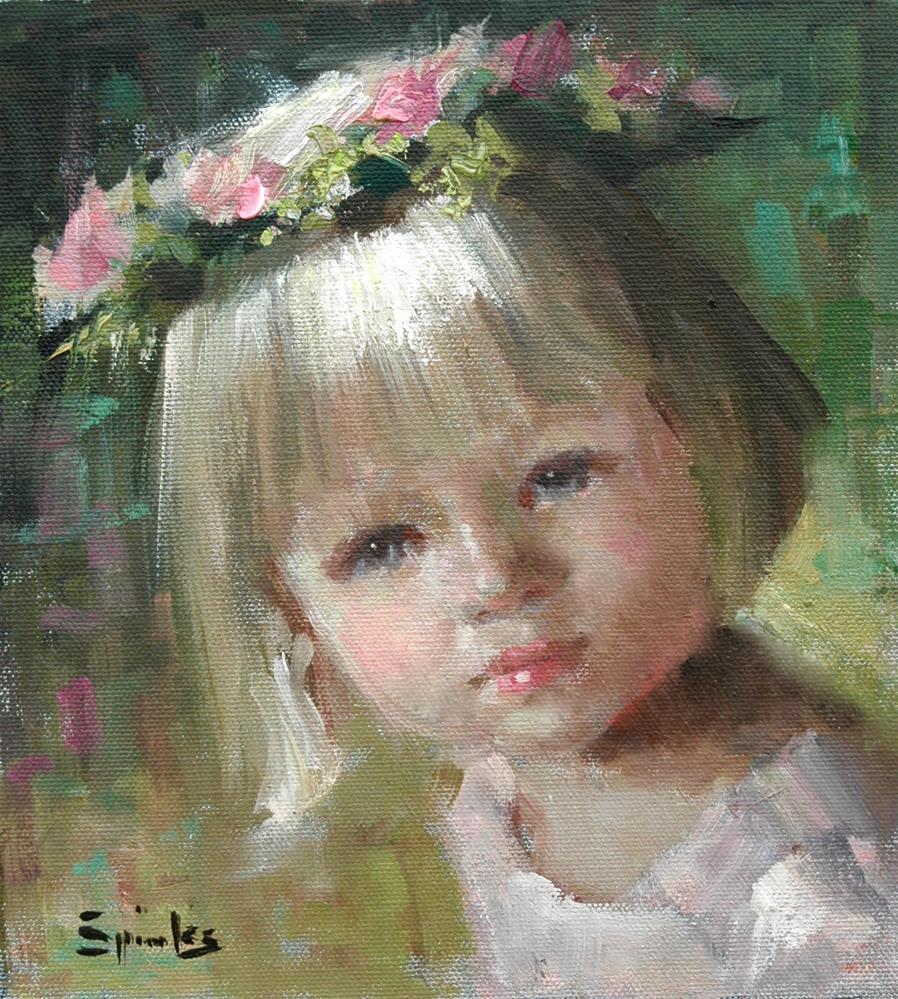 """""""Heaven Sent"""" original fine art by Johanna Spinks"""