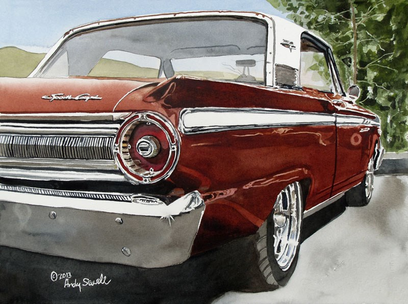 """""""63 Fairlane"""" original fine art by Andy Sewell"""