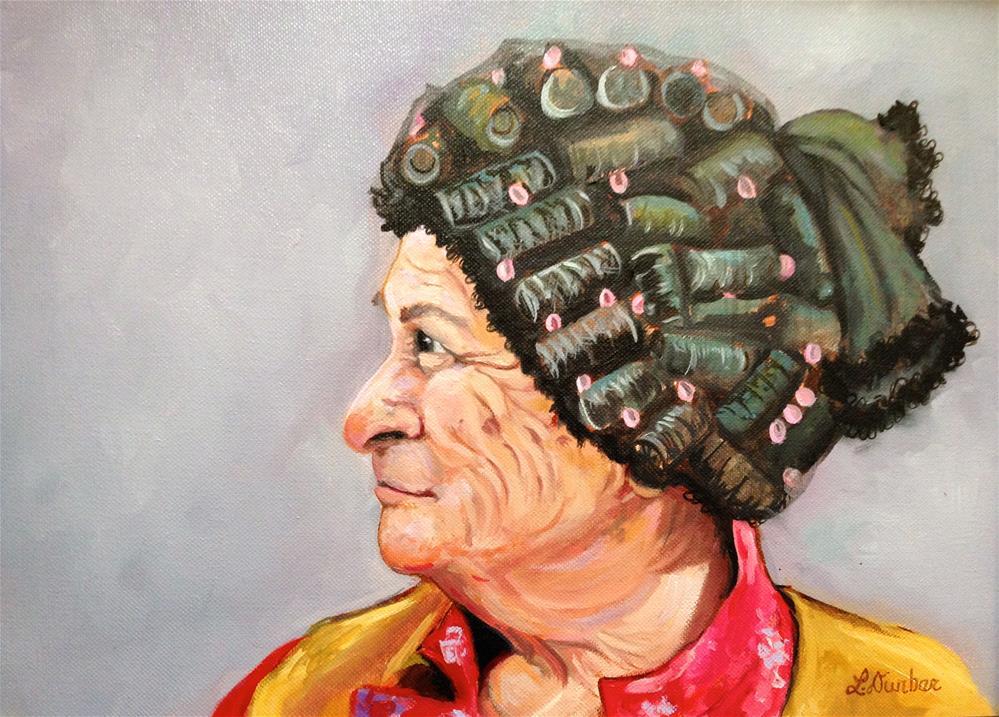 """Granny"" original fine art by Linda Dunbar"