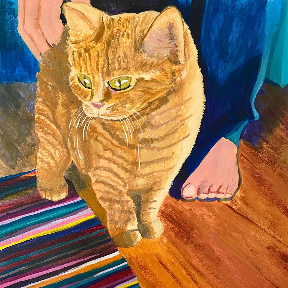 """""""Foster Cat"""" original fine art by Marlisa Dunn"""