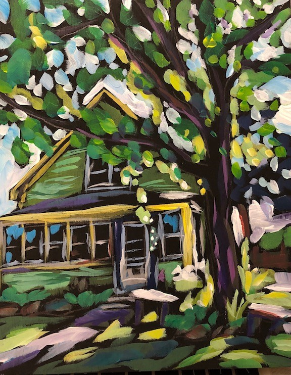 """Our House"" original fine art by Kat Corrigan"