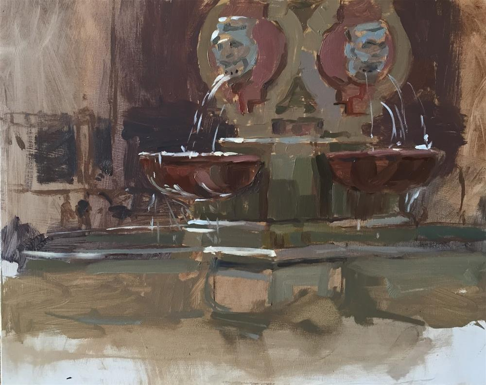 """Fountain study, Seville"" original fine art by Haidee-Jo Summers ROI"