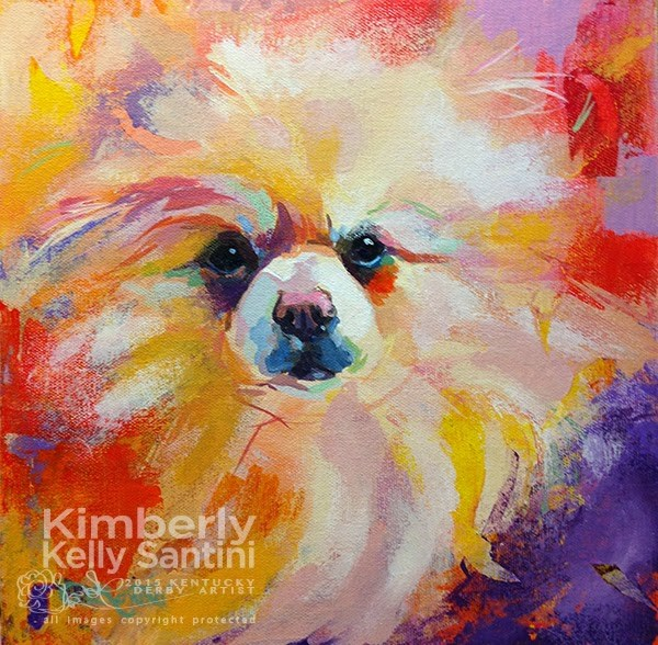 """""""Painting Intuitively - Puff Ball"""" original fine art by Kimberly Santini"""