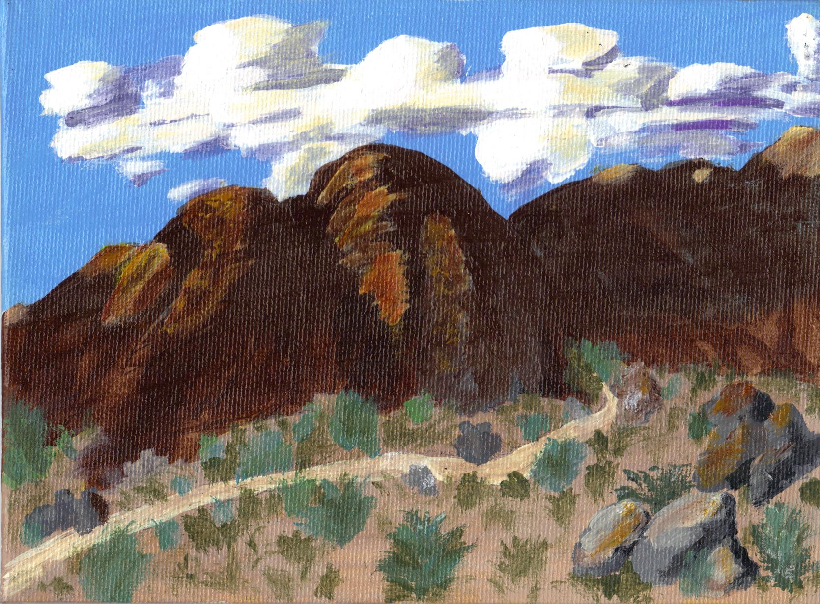 """Mountain View to North East"" original fine art by Brenda Smith"