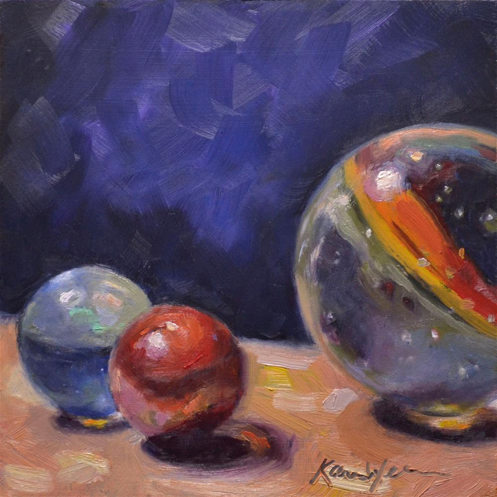 """""""Glass Planets"""" original fine art by Karen Weber"""