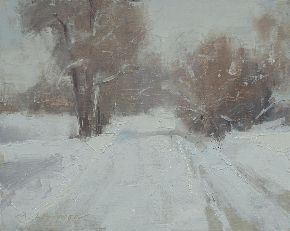 """2-4-4 Frozen Road"" original fine art by Marc Hanson"